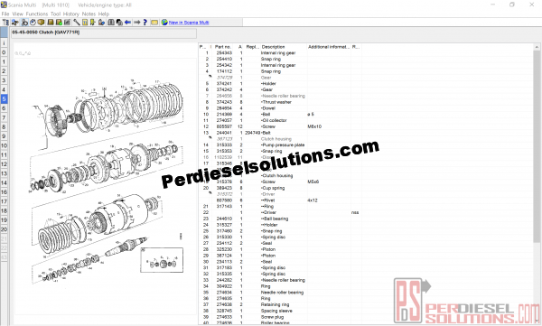 Scania Multi 10.2018 Parts Catalog and Service Manuals