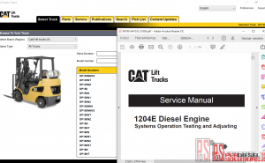 Cat Lift Trucks Service Manuals 2019