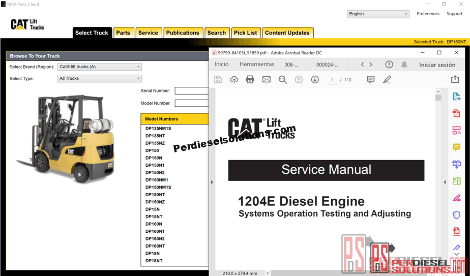 Caterpillar Lift Trucks MCFA-USA [05 2019] Service Manuals and Spare Parts  Catalog