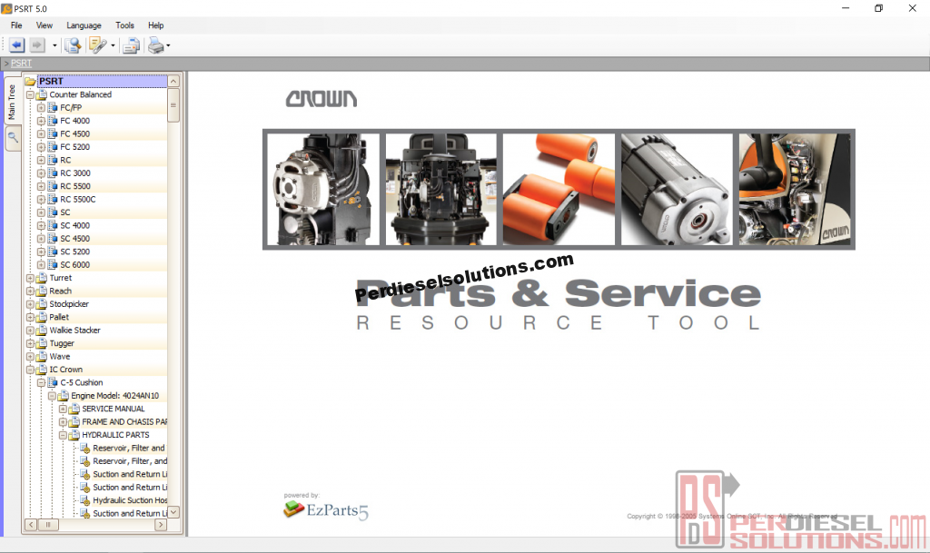 Crown Parts Catalog and Service Resource Tool 2019 PSRT - PerDieselSolutions