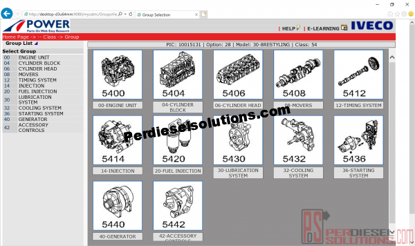 Electronic Parts Catalog Iveco Power