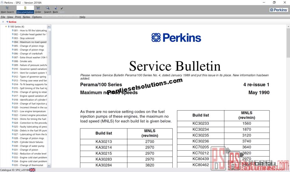 Perkins SPI2 [04 2018] Service Manual and Maintenance