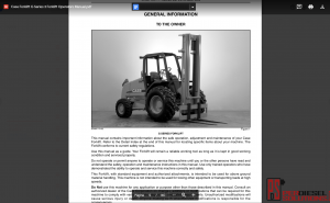 Case forklift full set operators manual