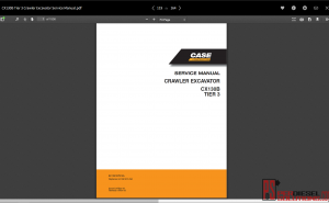 Case service manual full set