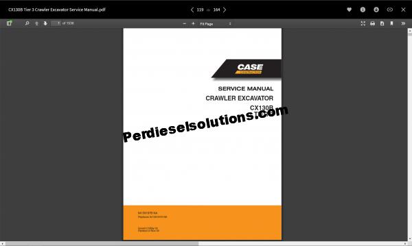 Case service manual full set