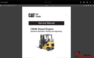 Caterpillar Lift Truck Service Manual