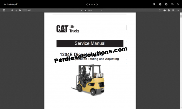 Caterpillar Lift Truck Service Manual