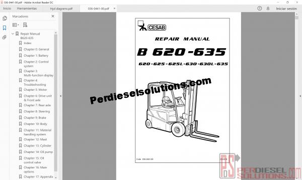 Cesab Repair Manual forklift
