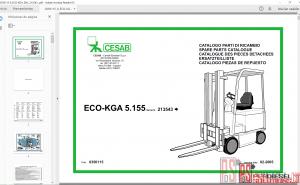 Cesab forklift parts catalog