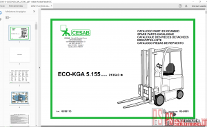 Cesab forklift parts catalog