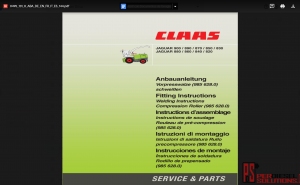 Claas Repair manual