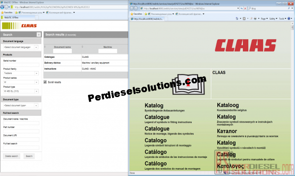 Claas WebTic Spare Parts Catalog
