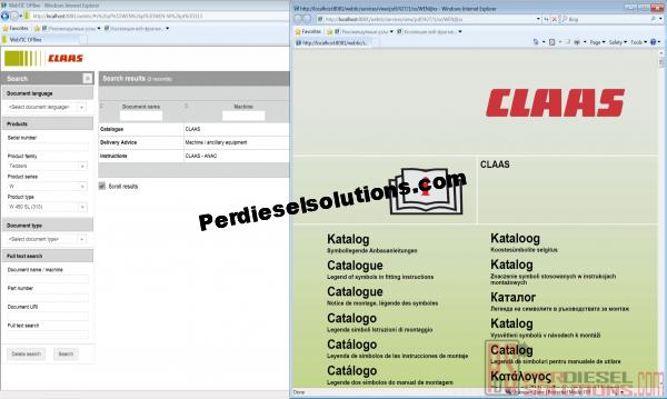 Claas WebTic Spare Parts Catalog