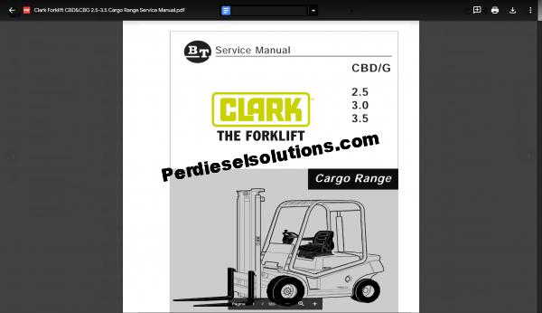 Clark Forklift Parts on