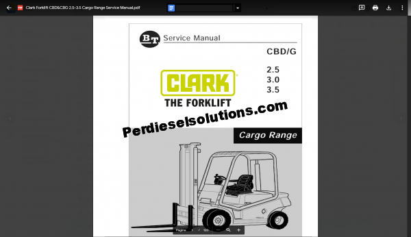 Clark Forklift Full Set Service Manual