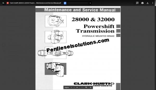 Clark Forklift Service Manual