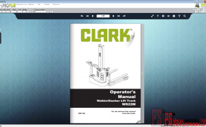 Clark Forklift Trucks Operator Manual