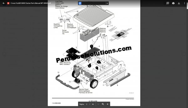 Crown Parts Catalog and Service Manual