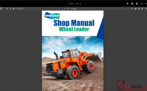 Doosan Wheel Loaders Shop Manual All Models PDF