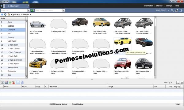 General Motors GMIO EPC 03.2019 Spare Parts Catalog