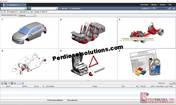 General Motors electronic parts catalog