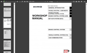 Hino diesel Full Set Workshop manual 2018