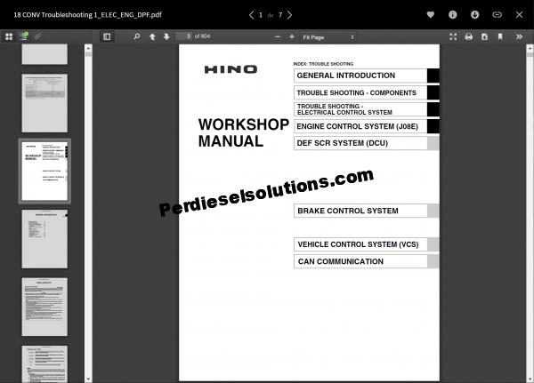 Hino diesel Full Set Workshop manual 2018