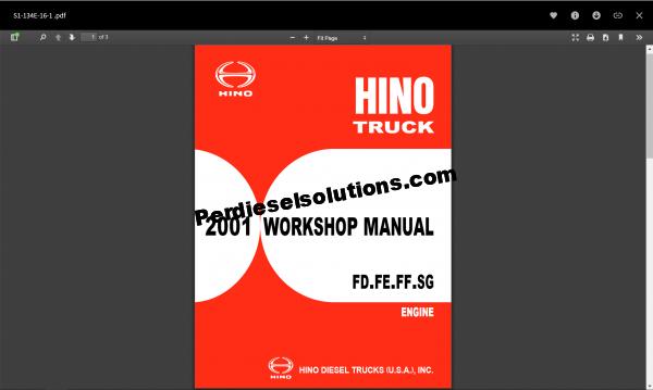 Hino diesel Workshop manual