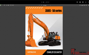 Hitachi Crawler Excavator ZX-5A Series full Workshop Manual PDF