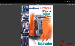 Hitachi Excavator ZX Series full Workshop Manual PDF