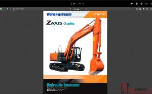 Hitachi Hydraulic Excavator ZX-3 Series full Workshop Manual PDF