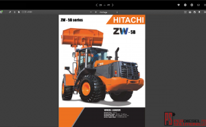 Hitachi Wheel Loader ZW-5B Series full Workshop Manual PDF
