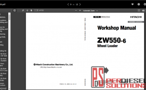 Hitachi Wheell Loader ZW-6 Workshop Manual