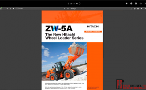 Hitachi wheel loader full workshop manual ZW-5A
