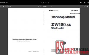 Hitachi wheel loaders workshop manual ZW-5