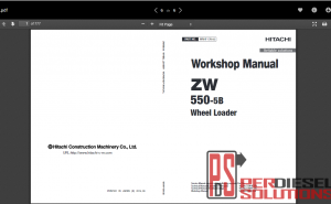 Hitachi workshop manual ZW-5B