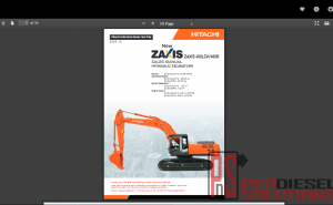 Hitachi workshop manual ZX-3
