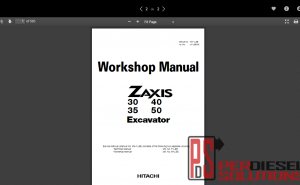Hitachi workshop manual excavator ZX