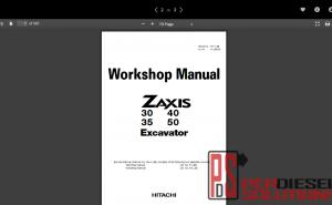 Hitachi workshop manual excavator ZX
