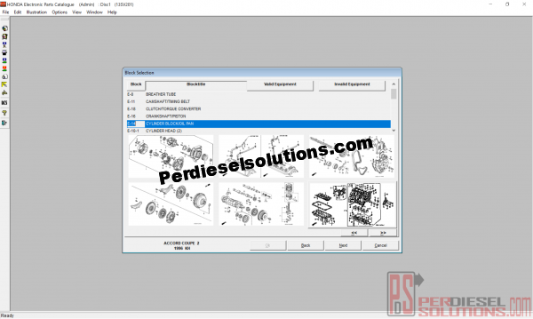 Honda EPC general parts catalog