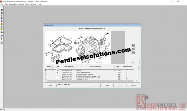 Honda spare parts catalogue