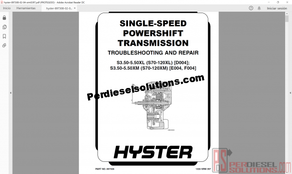 Hyster Forklift Trucks Service manual and parts