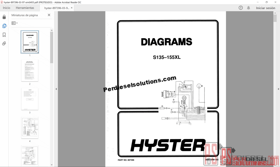 Hyster Forklift Trucks Parts and Service Manual All Models -  PerDieselSolutions | Hyster 30 Forklift Wiring Diagram |  | PerDieselSolutions