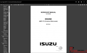 Isuzu workshop manual Engine 6WF1-TC