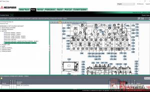 Mitusbishi forklift MCFE parts catalog