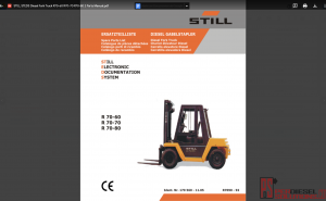 Still ForkLift Truck Parts Catalog