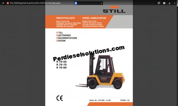 Still ForkLift Truck Parts Catalog