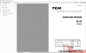 TCM Forklift Service Manual