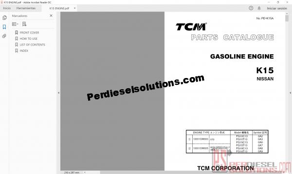 TCM Forklift Service Manual
