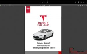 tesla service manual Models S 2012-2016